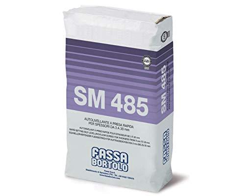 Autolivellante rapido a base cementizia per spessori da 3 a 30 mm per pavimenti Fassa SM485 - sacco 25 kg