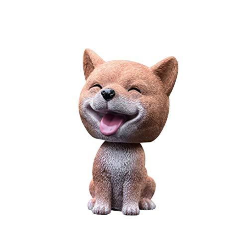 Cute Dog Car Head Dog, Shaking Head Dog Decor Car Interior Dashboard Ornament, Car Home Office Decoration