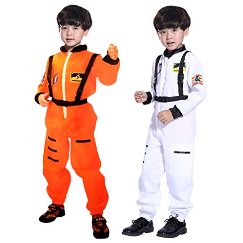 Kids Boys Cosplay Astronaut Jumpsuit, Child Role Play Spaceman Flight Spacesuit Christmas...