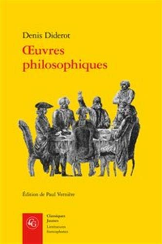 Oeuvres Philosophiques (Litteratures Francophones, Band 429)