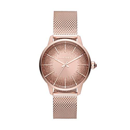 Diesel Damen Analog Quarz Uhr mit Edelstahl Armband DZ5592