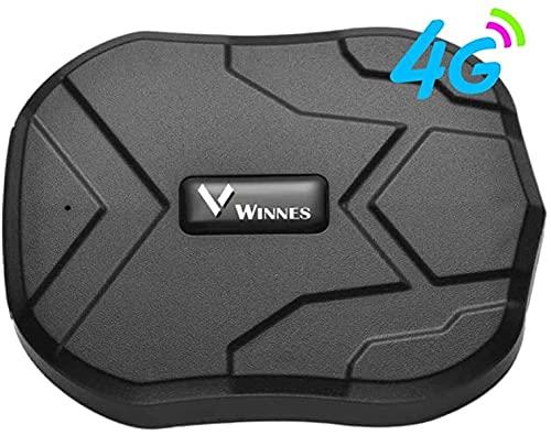 Tiempo Real Mini Portátil Localizador GPS, Incluye Tarjeta SIM con Plan de Datos para Seguimiento vehículo Coche Personal GPS Tracker Batería 5000mAh (TK905)