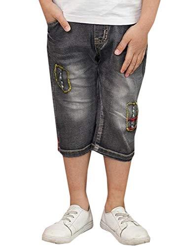 H&E Capri - Pantalones Cortos de Mezclilla elásticos para niños