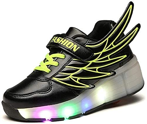 LCNING Roller Mode Roller Skate Shoes Roller Skate Sneaker Chaussures LED Éclair pour Enfants Enfants Junior Garçons Filles Filles pour Les Femmes et Les Hommes (Color : C, Size : 7 UK/40 EU)
