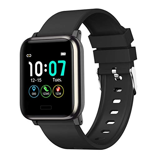 L8star Fitness Tracker, Heart Rate Monitor Activity Tracker Sleep Monitor, Measuring Calories Step Counter IP67 Waterproof Smart Watch Wearable Device for Men Women Kid Android iOS