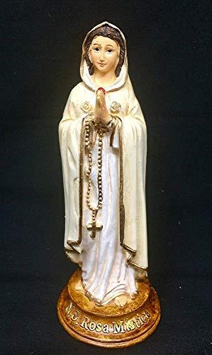 Osiris Trading UK Rosa Mystica Mystic Rose Statue Maria Katholische Marianische Skulptur Religiöse Ornament Figur für Zuhause oder Kapelle