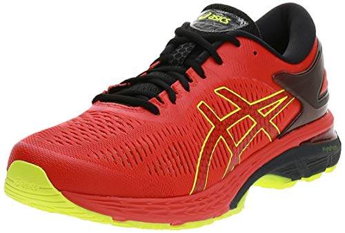 Asics Gel-Kayano 25, Zapatillas de Running para Hombre, Rojo (Cherry Tomato/Safety Yellow 801), 42 EU