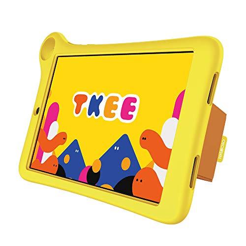 Alcatel MID Kids Tablet | 8 Zoll Touch-Farbdisplay | Kidomi Plattform mit Vielfalt aus Lernspielen, Büchern und Videos | Robustes Design | sichere Umgebung für Kinder | LTE + GPS Funktion, Yellow