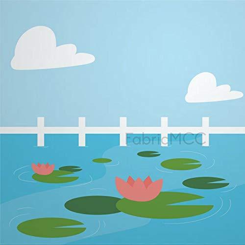 daoyiqi Juego de adhesivos decorativos para azulejos, diseño floral y nubes de flores, lago de 4 x 4 pulgadas, vinilo adhesivo para suelo de azulejos de vinilo resistente al agua, 12 unidades