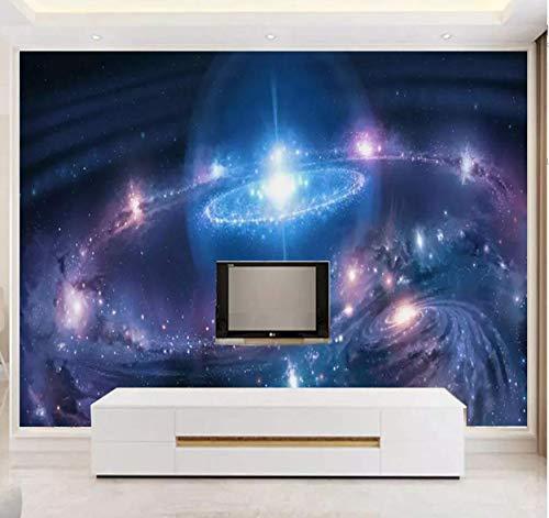 Parat-Papier nicht gewebt 3D Persönlichkeit Fantasy Universo Stern Tv Hintergrund 3D Stereo Galaxy Notte Cielo Wallpaper Schlafzimmer Rot Netto 120 x 100 cm 400 * 280