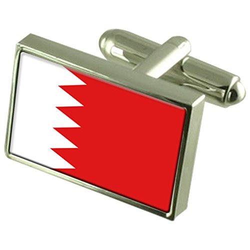 Boutons de manchette Drapeau Bahreïn Sterling Silver