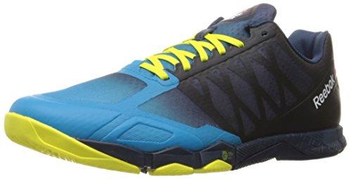 Reebok Men's Crossfit Hit TR 1.0-M Running Shoe, Wild Blue/Collegiate Navy/Hero Yellow/Pewter, 10 M US