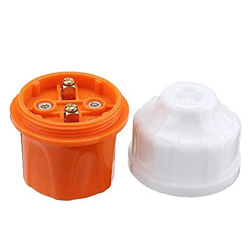 YJDSZD Componentes electrónicos Soporte de lámpara suspendido Naranja E27 Adaptador de Bombilla de Enchufe de Tornillo AC250V