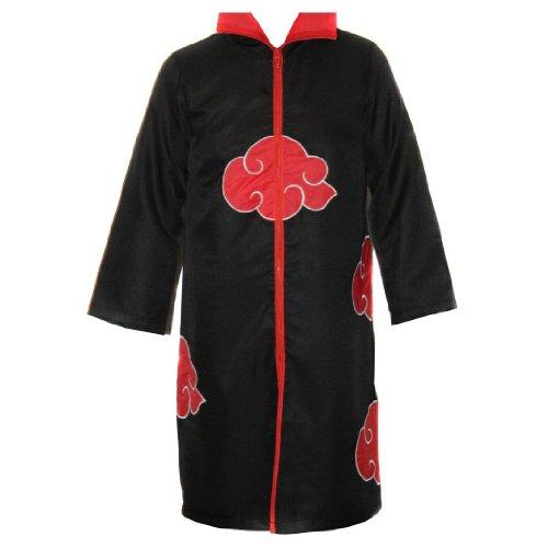 NARUTO - Premium Akatsuki Cosplay Mantel Umhang Gr. M (160-170cm) Kostüm