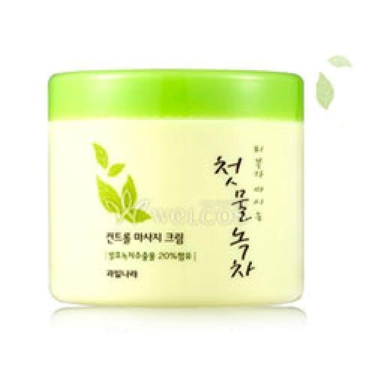 順応性簡単な心のこもったKwailnara Spring Leaves Of Green Tea Control Massage Cream [Korean Import]