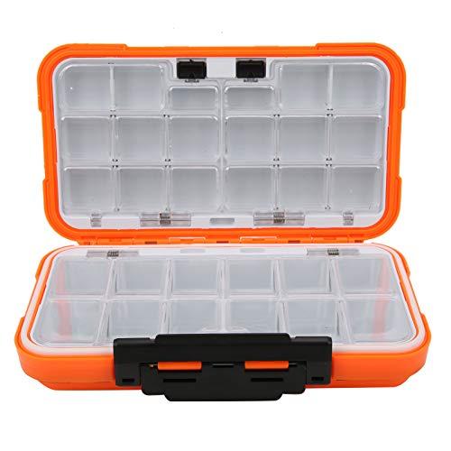 DPYF Caja de gancho de pesca de doble cara, caja de señuelos impermeable de doble cara gancho de pesca caja de almacenamiento de herramientas multifuncional accesorio