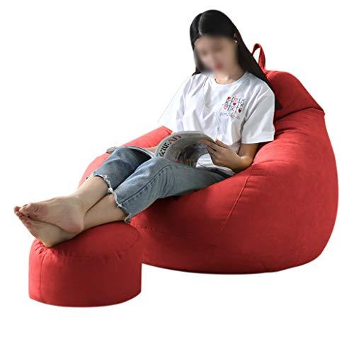 SD Bean Bag Chaise/canapé/Cadeau Tapis Oreiller/Confortable/Convient pour intérieur et extérieur/avec Repose-Pied