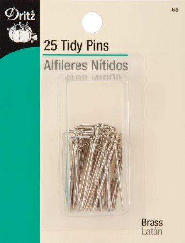 Dritz 65 Tidy Pins, Nickel-Plated Brass (25-Count)