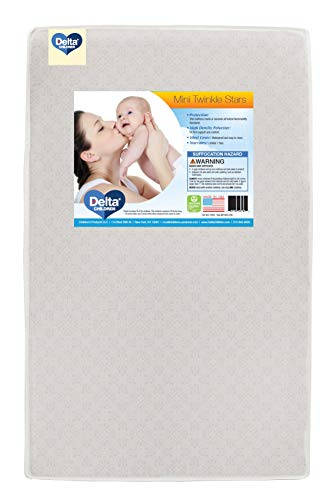 Delta Children Twinkle Stars 3-Inch Mini/Portable Crib Mattress