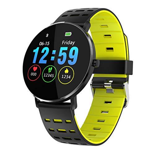 ZSP Smart Watch Sportuhrt Armband Farbe Full Fit Arc Bildschirm Gesundheit Pulsuhr IP68 wasserdicht Gelb