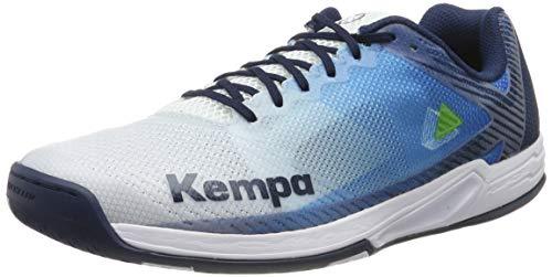Kempa WING 2.0, Unisex-Erwachsene Handballschuhe, Mehrfarbig (White/Navy 01), 47 EU