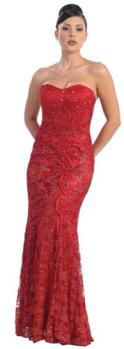 Big Sale Prom Dress New Elegant Long Gown #540 (8, Red)