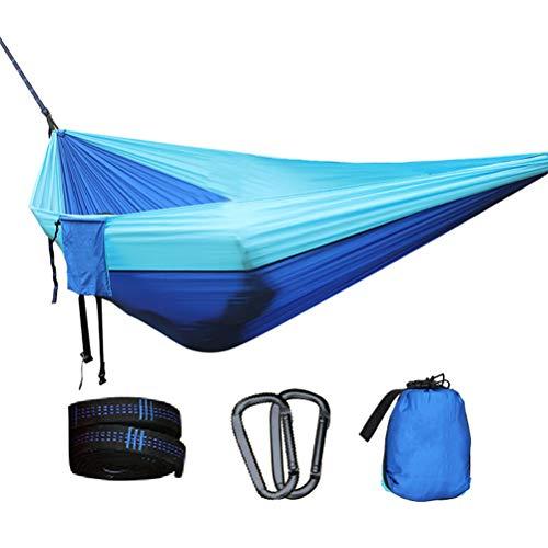 Samyth - Hamaca doble para acampada al aire libre, ligera, portátil, para senderismo, viajes, 260 x 140 cm