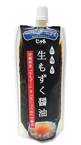 生もずく醤油 150g×20P シュアナチュラル 減塩 フコイダンたっぷりの沖縄県産モズク100%使用 もずくのネバネバ成分をいかしたジュレ 美容・健康維持に 沖縄土産にも最適