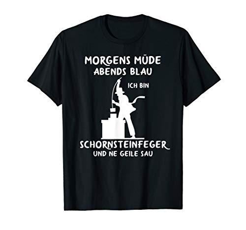 Herren Schornsteinfeger Kaminkehrer Geschenke für Essenkehrer T-Shirt