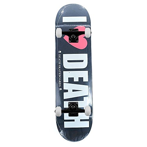 Death Skateboards i Heart Death complete skateboard Pro nero 21,3 cm