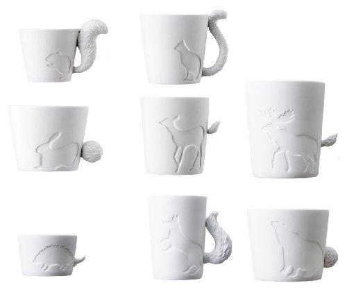 Tasse - Teebecher - Mugtail - Komplett - Eichhörnchen, Katze, Hase, REH, Elch, Bär, Igel, Fuchs