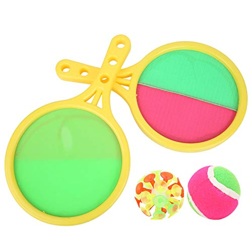 DAUERHAFT No lastimado Catch Ball Set Raqueta de Pelota de Captura cómoda Ambiental para niños