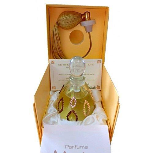 M. Micallef M. Micallef Crystal navulbare parfumfles Handbeschilderd met Swarovski-kristallen Lege fles 75 ml