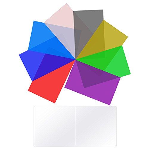 Neewer 8 Paquete Filtro de Color de Iluminación Tansparente Filtro de Corrección de Color en 8 Colores Diferentes para Neewer CN160 CN126 CN216 LED Luz de Video, 9 x 13,7 Centímetros
