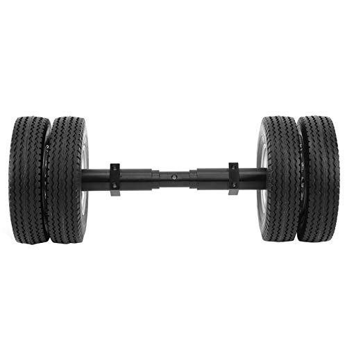 XINMYD Neumático RC, neumático de Eje Trasero sin Motor, Cubo de Rueda de 10 Orificios Apto para Remolque de Tractor 1/14