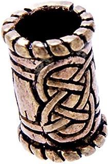 Nodi drachensilber barba perla architettata perla in bronzo, 6 mm diametro interno