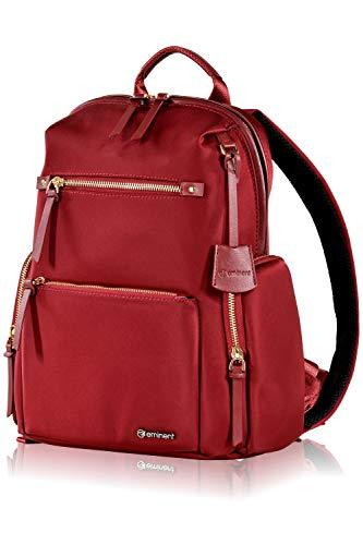 Eminent Daypack Litepak 13 Inch 14 L Womens Backpacks Lightweight for Business, Leisure, Holiday Travel Designer Rucksacks Anti-Theft Packs for College, Work, School Girls, Ladies, Teens Red