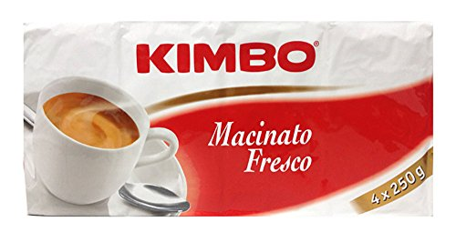 Kimbo - Caff, Macinato fresco - 250g (Pacco da 4)