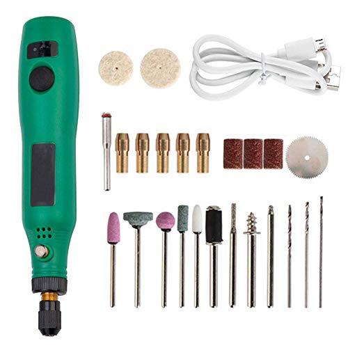 Rotatorio inalámbrico Mini herramienta de perforación rotatoria Multi-herramienta del kit de accesorios de bricolaje eléctrico amoladora de Pulido Limpieza de grabado 24pcs