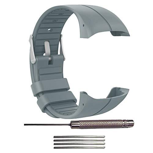 Ixkbiced Reemplazo de la Pulsera de la Pulsera de la Correa del Reloj de Silicona para Polar M400 / M430 / Elib311 GPS Running Smart Sports Watch Accesorios