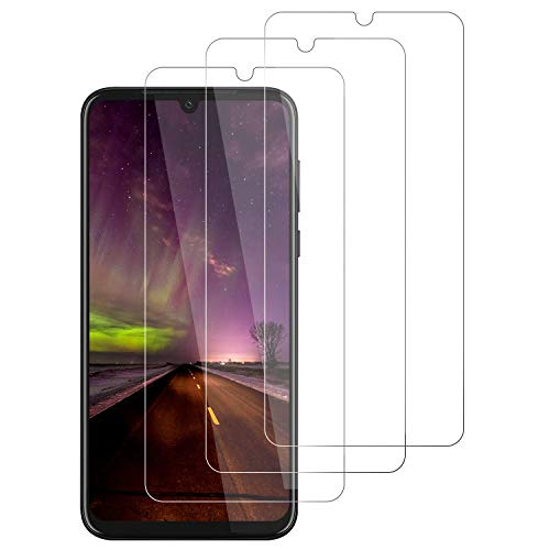 3-Unidades Protector de Pantalla para Motorola Moto G8 Plus Cristal Templado,[9H Dureza][Resistente a Arañazos][Kit Fácil de Instalar][Sin Burbujas] Vidrio Templado Screen Protector para Moto G8 Plus