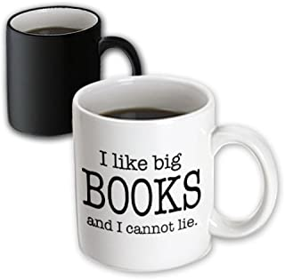 3dRose I Like Big Books and I Cannot Lie Novelist Humor Magic Transforming Mug, 11-Ounce