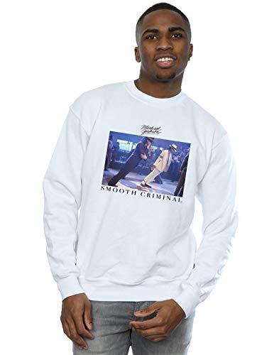 Absolute Cult Michael Jackson Herren Smooth Criminal Lean Sweatshirt Weiß Medium