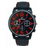 Guangcailun Hombres Deportes Reloj de Cuarzo Reloj de los Hombres Retro Reloj de Pulsera de los Hombres Retro Reloj del dial del Reloj del Cuero del Reloj Reloj de Carreras