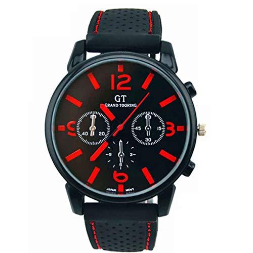 Conijiwadi Hombres Deportes Reloj de Cuarzo Reloj de Pulsera de Reloj de los Hombres Retro Reloj de marcación de Cuero Reloj de Carreras