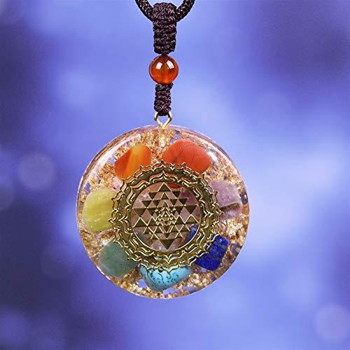 DFGDFG Colgante orgonita Chakra Reiki Collar de Yoga suéter Cadena Collar for Mujeres Hombres joyería