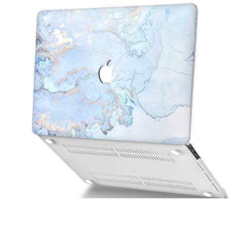 UZAHSK Mac-Book Air 13 Inch case (2020 & 2019 & 2018 Release) A2337M1/A2179 / A1932 Plastic Hard Shell Cover Only Compatible With Mac-Book Air 13 inch with Touch ID. (Blue marble)