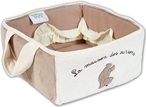 Les Chatounets Ourson Chic Corbeille de Toilette Famille