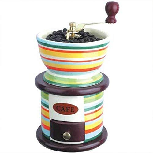 Klassische Keramik Mini Manuelle Kaffeemühle Edelstahl Retro Kaffee Gewürzmühle Mit Hochwertigem Porzellan Uhrwerk
