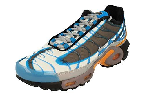 Nike Air Max Plus PRM Herren Trainers 815994 Sneakers Schuhe, - Photo Blue Wolf Grey 400. - Größe: 40 EU